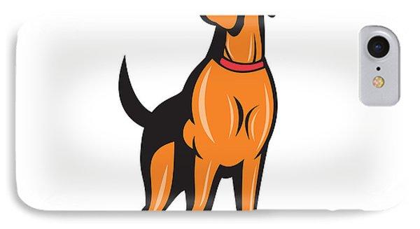 Cocker Spaniel Golden Retriever Dog Cartoon IPhone Case by Aloysius Patrimonio