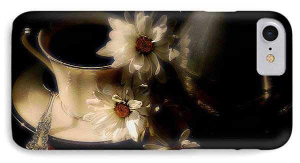 Coffee And Daisies  Phone Case by Lois Bryan