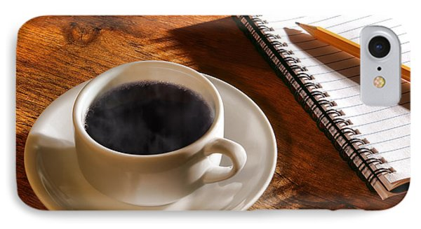 Coffee For The Writer Phone Case by Olivier Le Queinec
