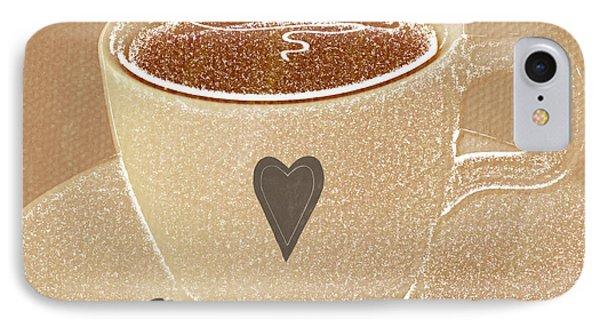 Coffee Love In Mocha IPhone Case by Linda Woods