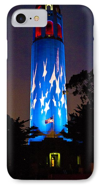 Coit Tower On The Anniversary Of 9/11 Phone Case by Patricia Sanders