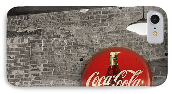 Coke Cola Sign IPhone Case by Paulette B Wright