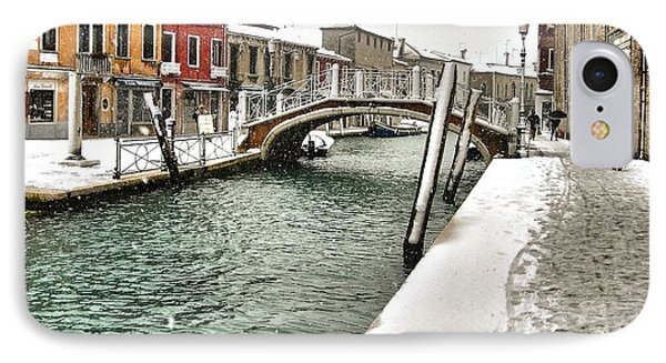 IPhone Case featuring the photograph Cold Winter In Venice by Thierry Bouriat