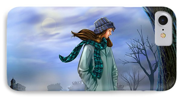 Cold Winter Warm Thoughts IPhone Case by Bedros Awak