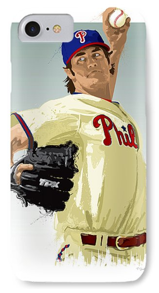 Cole Hamels IPhone Case by Scott Weigner
