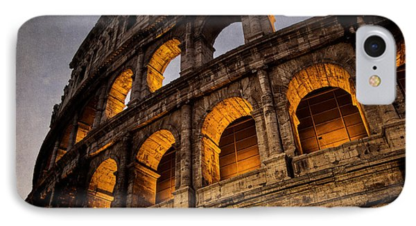 Colosseum Dawn IPhone Case by Joan Carroll
