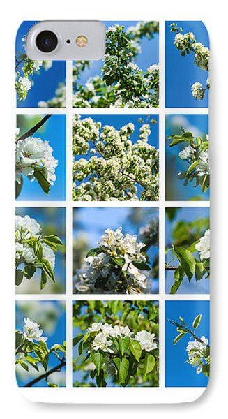 Collage Spring Blossoms 1 Phone Case by Alexander Senin