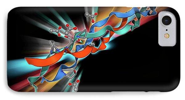 Collagen-like Molecule IPhone Case by Laguna Design