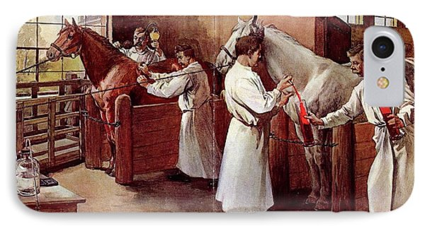 Collecting Horse Blood IPhone Case by National Library Of Medicine