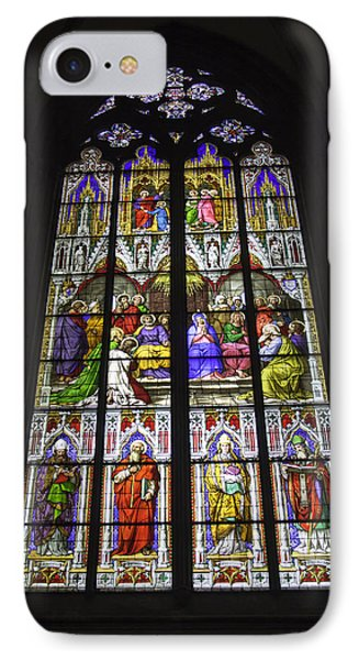Cologne Cathedral Stained Glass Window Of Pentecost IPhone Case by Teresa Mucha