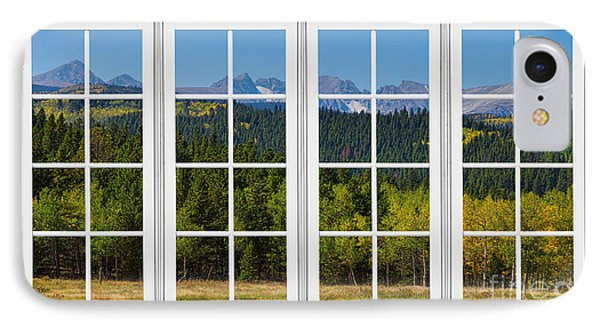 Colorado Rocky Mountains White Window Frame View Phone Case by James BO  Insogna
