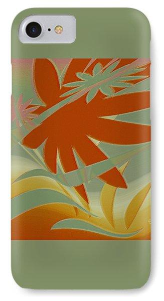 Colored Jungle Orange Splash Phone Case by Ben and Raisa Gertsberg