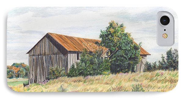 Colored Pencil Barn Phone Case by Marshall Bannister