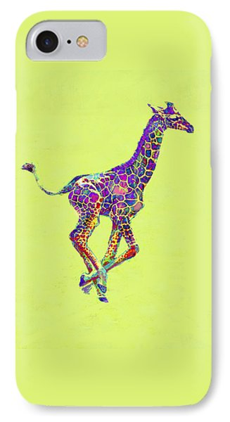 Colorful Baby Giraffe IPhone Case by Jane Schnetlage