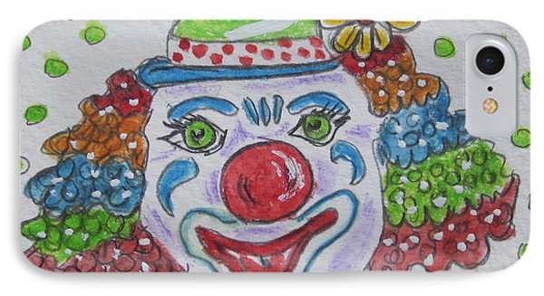 Colorful Clown Phone Case by Kathy Marrs Chandler