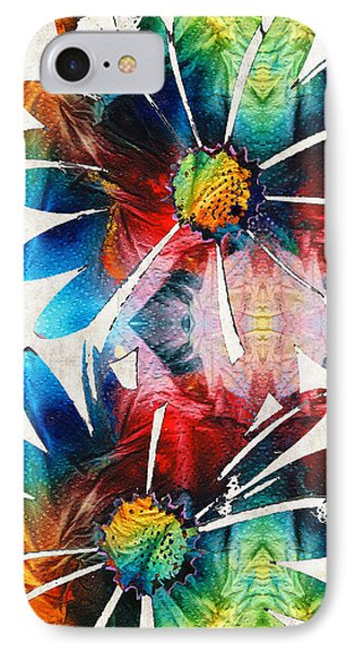 Colorful Daisy Art - Hip Daisies - By Sharon Cummings IPhone Case by Sharon Cummings