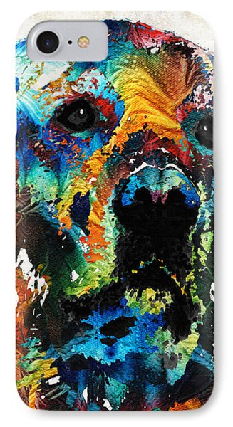 Colorful Dog Art - Heart And Soul - By Sharon Cummings IPhone Case by Sharon Cummings