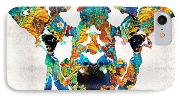 Colorful Giraffe Art - Curious - By Sharon Cummings IPhone Case by Sharon Cummings