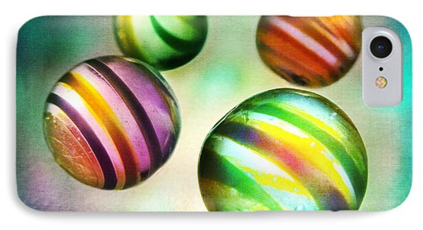 Colorful Glass Marbles Phone Case by Marianna Mills