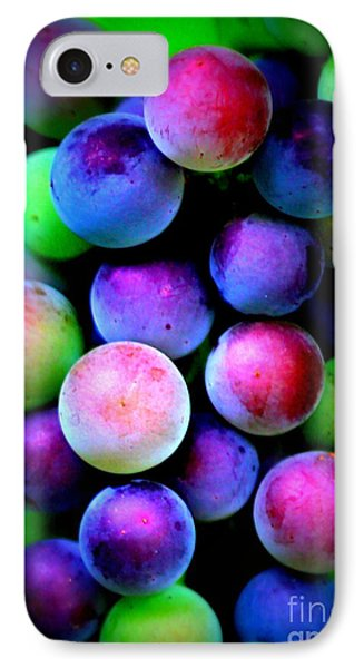 Colorful Grapes - Digital Art IPhone Case by Carol Groenen