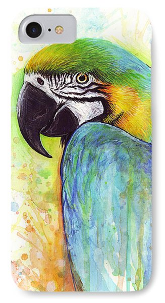 Macaw Painting IPhone Case by Olga Shvartsur