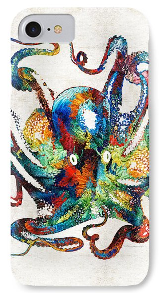 Colorful Octopus Art By Sharon Cummings IPhone Case by Sharon Cummings