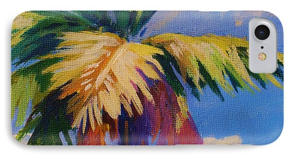 Colorful Palm IPhone Case by John Clark