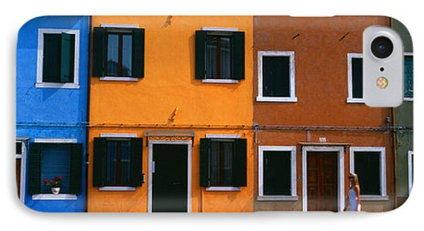 Colorful Row Houses, Burano, Venice IPhone Case by Panoramic Images