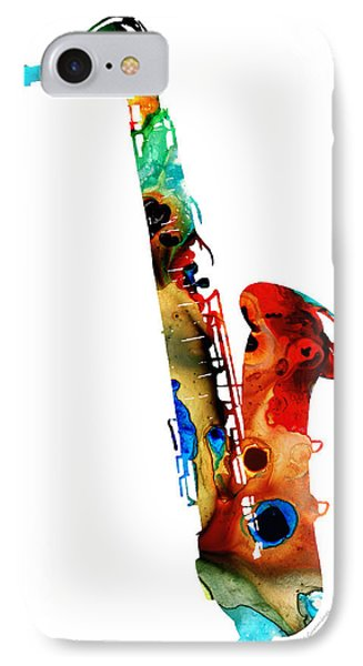 Colorful Saxophone By Sharon Cummings IPhone 7 Case by Sharon Cummings