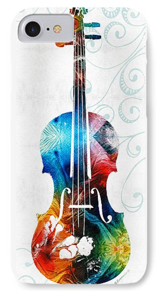 Colorful Violin Art By Sharon Cummings IPhone 7 Case by Sharon Cummings