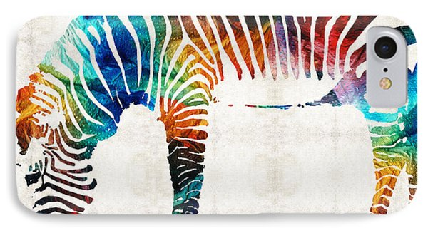 Colorful Zebra Art By Sharon Cummings IPhone 7 Case by Sharon Cummings