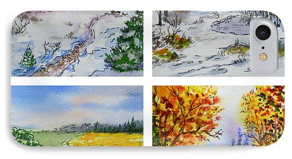 Colors Of Russia Four Seasons IPhone Case by Irina Sztukowski