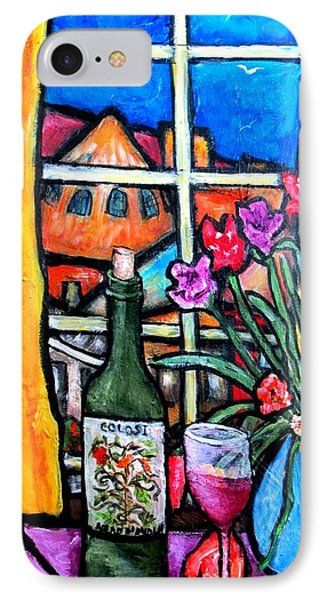 Colosi Wine With Flowers IPhone Case by Chaline Ouellet