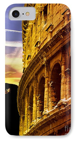 Colosseum Sunset Phone Case by Stefano Senise