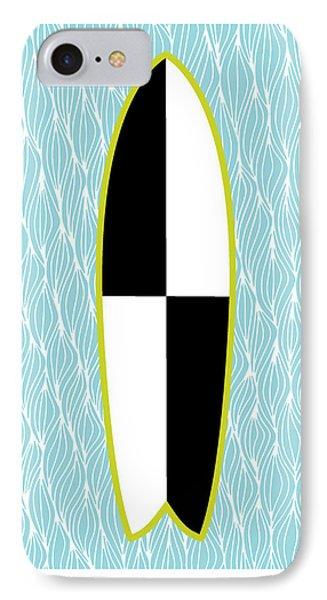 Colour Block Surfboard IPhone Case by Susan Claire