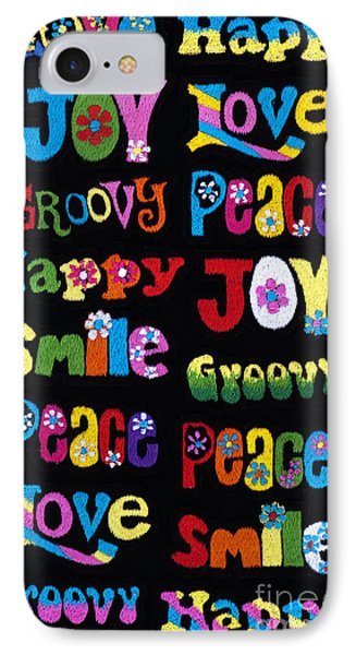 Colourful Words Phone Case by Tim Gainey