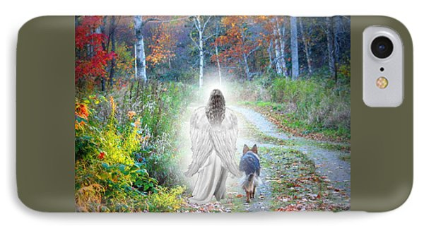 Come Walk With Me IPhone Case by Sue Long
