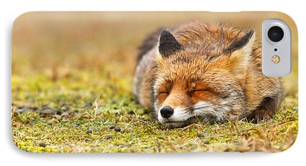 Comfortably Fox IPhone Case by Roeselien Raimond
