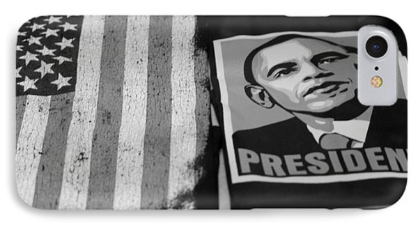Commercialization Of The President Of The United States In Balck And White IPhone Case by Rob Hans