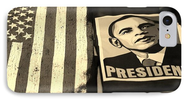 Commercialization Of The President Of The United States In Sepia IPhone Case by Rob Hans