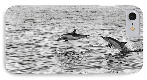 Common Dolphins Leaping. Phone Case by Jamie Pham