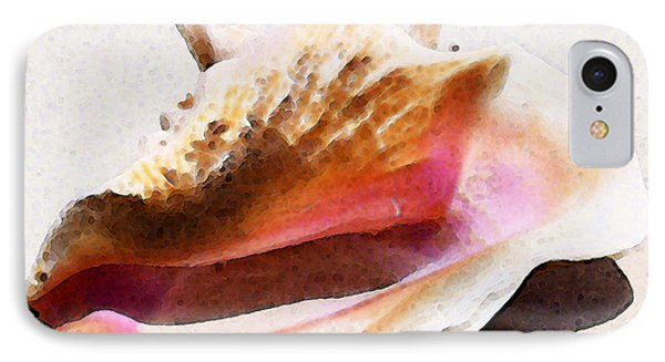 Conch Shell - Listen Phone Case by Sharon Cummings
