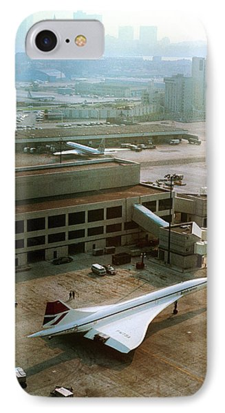 Concorde At An Airport IPhone Case by Us National Archives