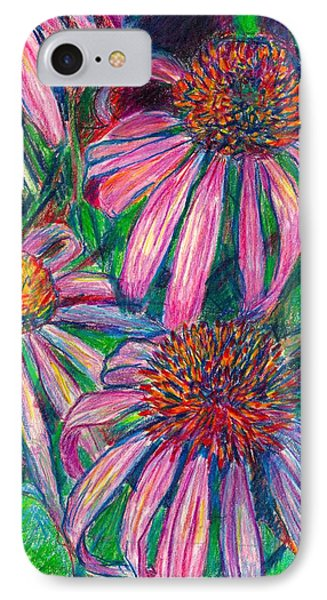 Coneflower Twirl Phone Case by Kendall Kessler