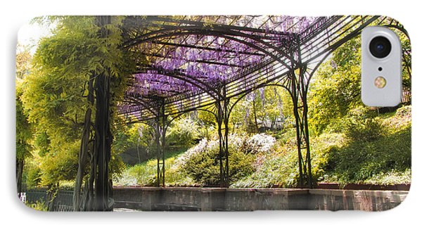 Conservatory Garden Wisteria IPhone Case by Jessica Jenney