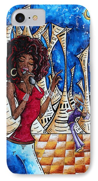 Contemporary New Orleans Jazz Blues Original Painting Singin In The Streets Phone Case by Megan Duncanson
