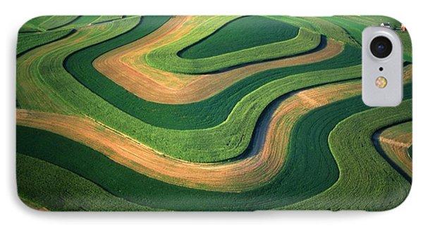Contour Farm Art Aerial  Phone Case by Blair Seitz