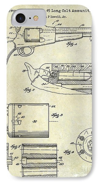 Conversion Cylinder 45 Long Colt Ammunition IPhone Case by Jon Neidert
