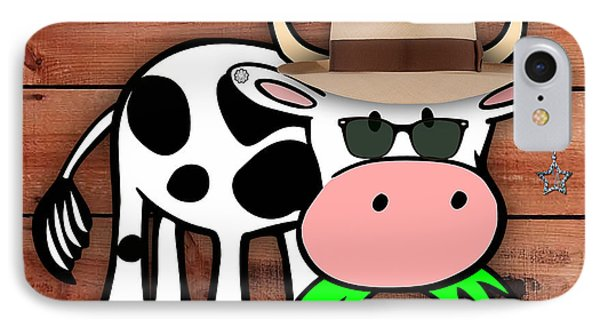 Cool Cow Collection IPhone Case by Marvin Blaine