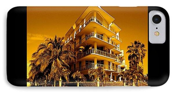 Cool Iron Building In Miami Phone Case by Monique Wegmueller